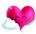 Pink Happy Heart emoticon (Happy Emoticons)