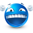 Victorious laugh emoticon (Laughing Emoticons)