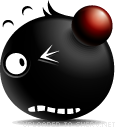 Battered emoticon (Black Emoticons)