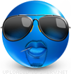 Cool Dude emoticon (Blue Face Emoticons)