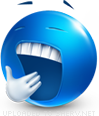 Feeling Sleepy emoticon (Blue Face Emoticons)