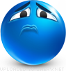 Frustration emoticon (Blue Face Emoticons)