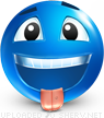 Haha! emoticon (Blue Face Emoticons)
