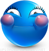 Holding In Laughter emoticon (Blue Face Emoticons)