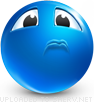 I'll Cry emoticon (Blue Face Emoticons)