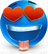 In Love emoticon (Blue Face Emoticons)