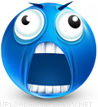 Mad emoticon (Blue Face Emoticons)