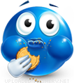 Munching emoticon (Blue Face Emoticons)