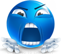 Screamer smiley (Blue Face Emoticons)