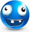 Silly Face emoticon (Blue Face Emoticons)