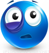 Sore Eye emoticon (Blue Face Emoticons)