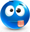 Stunned emoticon (Blue Face Emoticons)