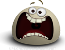 Horrified emoticon (Brown Emoticons)