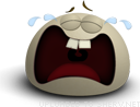 Tantrum Cry emoticon (Brown Emoticons)