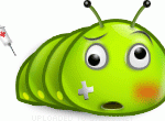 Bruised and Battered emoticon (Bug and insect emoticons)