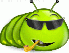 Cool Caterpillar emoticon (Bug and insect emoticons)