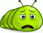 Sad Bug emoticon (Bug and insect emoticons)