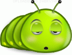 Sleepy Caterpillar emoticon (Bug and insect emoticons)