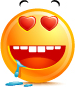 Hit by Love emoticon (Butter Face emoticons)