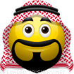 Arab Wearing a Keffiyeh emoticon (Characters emoticons)