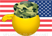 Saluting the American Flag emoticon (Flag Emoticons)