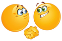 Smileys Shaking Hands emoticon (Hand gesture emoticons)