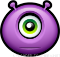 Alien Cyclops smiley (Horror Emoticons)