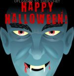 Happy Halloween Vampire emoticon (Horror Emoticons)