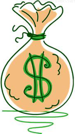 sack coins dollar sign icon