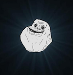 background forever alone meme smiley