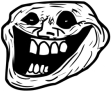 Creepy Troll Rage emoticon