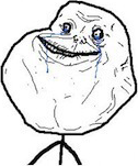 Forever Alone emoticon (Rage Emoticons)