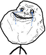 Forever Alone Troll emoticon (Rage Emoticons)