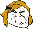 Sad Blonde Troll emoticon (Rage Emoticons)
