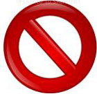 not allowed symbol sign icon