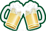 Cheers with Beer emoticon (St. Patrick's Day emoticons)