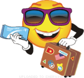 icon of holiday ticket
