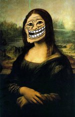 mona lisa troll face smiley