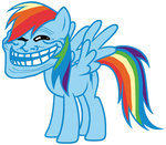 rainbow dash troll smiley