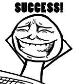 success troll smiley