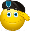 A Soldier Saluting emoticon (Army and War emoticons)