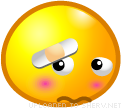 Ashamed emoticon (Yellow Face Emoticons)