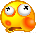 Beaten emoticon (Yellow Face Emoticons)