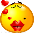 Kisses emoticon (Yellow Face Emoticons)