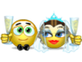 Wedding and marriage emoticons