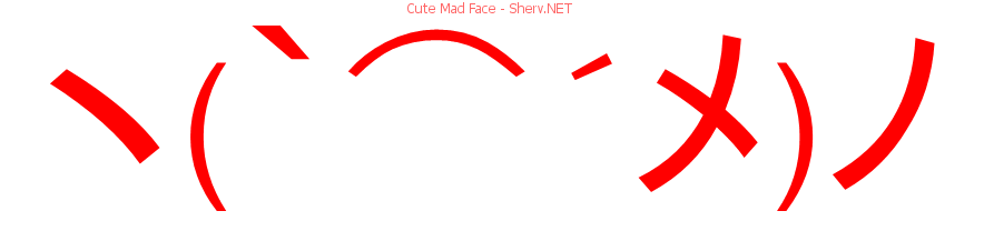 Cute Mad Face Text Emoticon Free Text And Ascii Emoticons