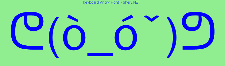 Keyboard Angry Fight Text Emoticon Free Text And Ascii Emoticons