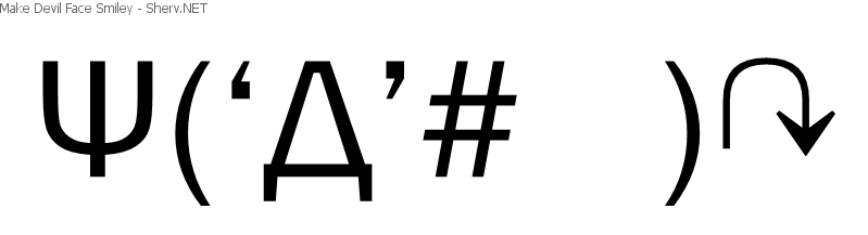 Devil Text Emoticons And Unicode Symbols Free Japanese Text Art