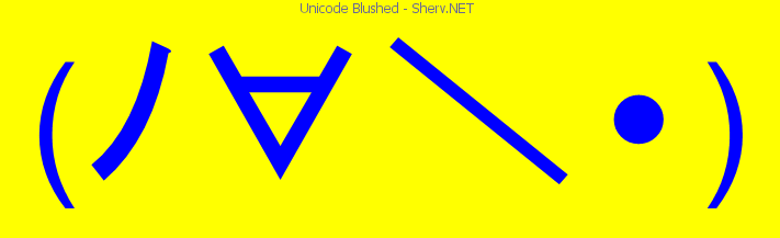 Unicode blushed text emoticon free text and ascii emoticons