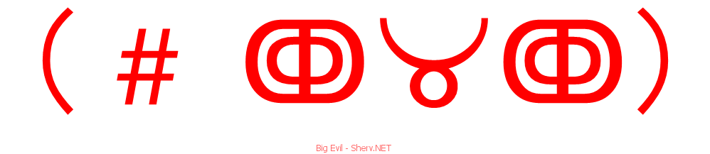 Big evil text emoticon free text and ascii emoticons